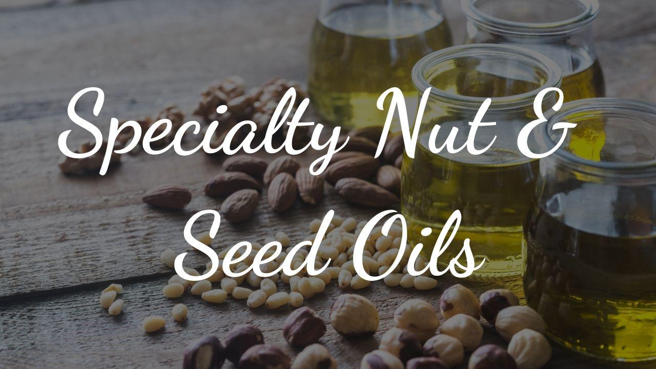 nut and seed oils dark